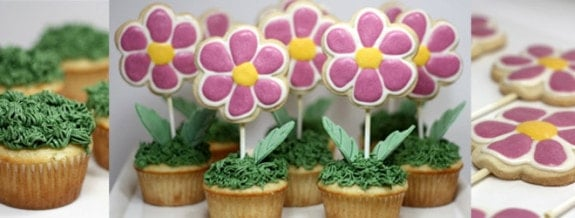 Guest Blogger Judy shares her recipe for Spring Flower Cupcakes