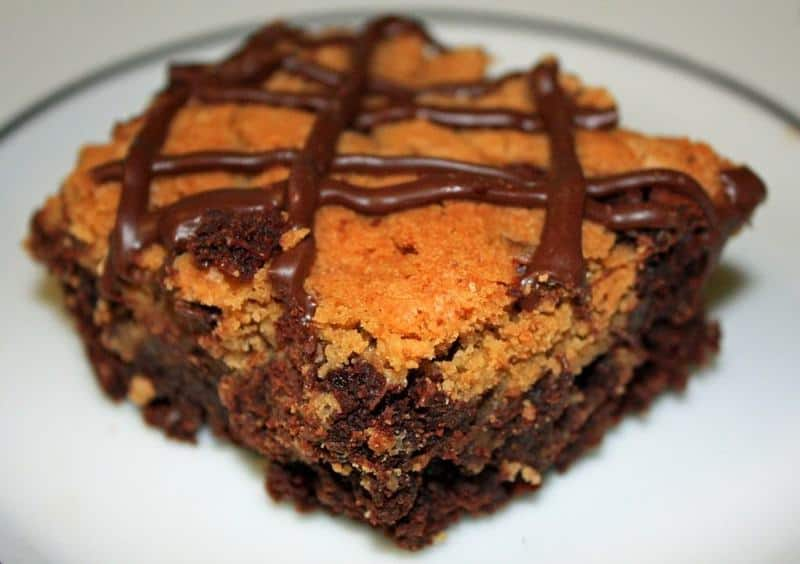 Chocolate Chip Cookie Brownie Bars - JavaCupcake