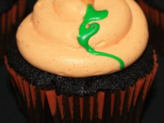 Black Velvet Pumpkin Cupcakes | JavaCupcake.com