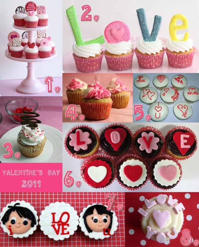 Strawberry Cupcakes W/ Swirled Vanilla Buttercream By Nakedcupcakes. 5.  Piped Icing Designs For Valentineu0027s ...