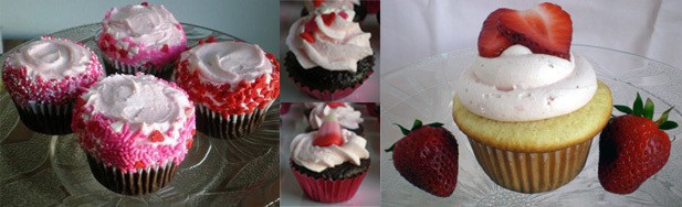 I Made These Cupcakes The First Year I Started Baking Cupcakes Seriously.  The One On The Right Is A White Butter Cupcake Filled With Strawberry And  Topped ...