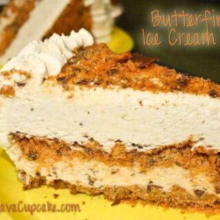 Butterfinger Ice Cream Cake