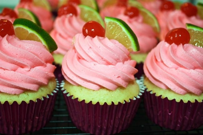 Cherry Limeade Cupcakes | JavaCupcake.com