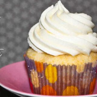 Mozart White Chocolate Cupcakes