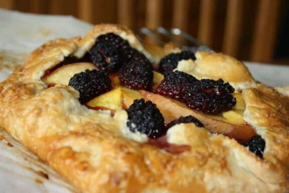 Peach & Blackberry Galette