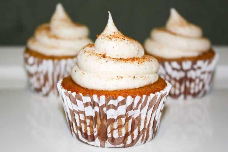 Cinnamon Eggnog & Bourbon Cupcakes | JavaCupcake.com