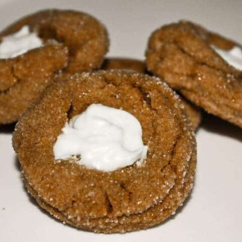 White Chocolate topped Gingerbread Blossoms
