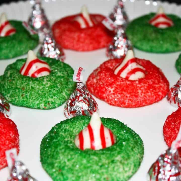 White Chocolate Candy Cane Blossoms