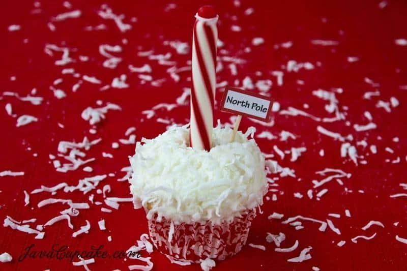 North Pole Cupcakes with recipe & tutorial   JavaCupcake.com