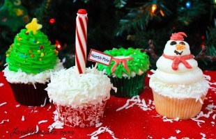 4 Holiday Cupcakes – Recipes & Decorating Tutorials