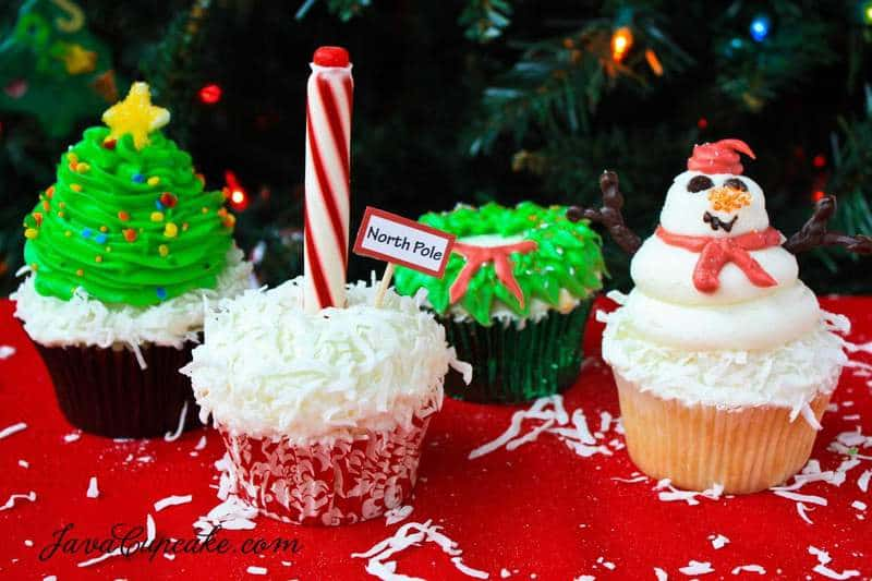 Holiday Cupcakes with recipe & tutorial | JavaCupcake.com
