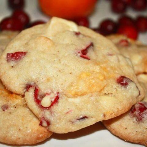Mandarin Orange & Cranberry White Chocolate Cookies