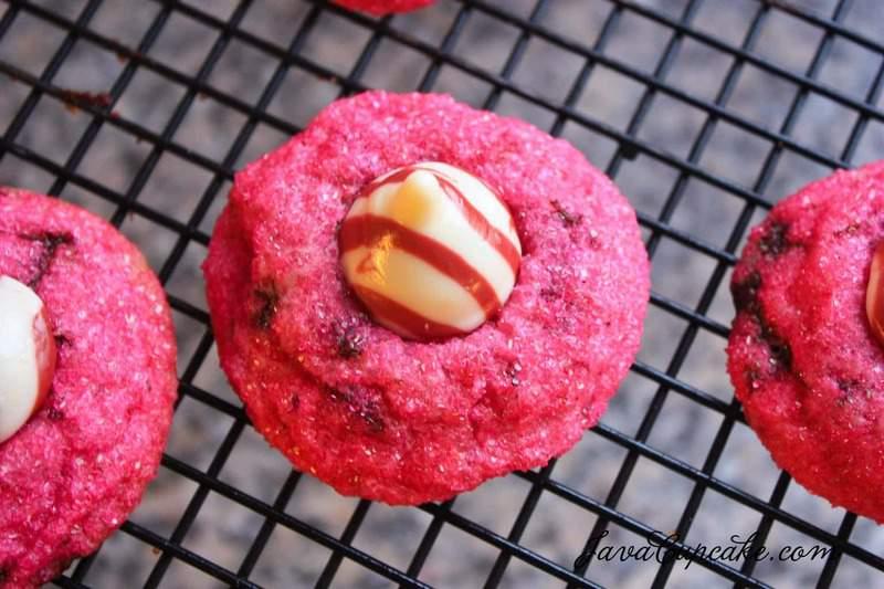 Dark Chocolate Raspberry Hug Cookies