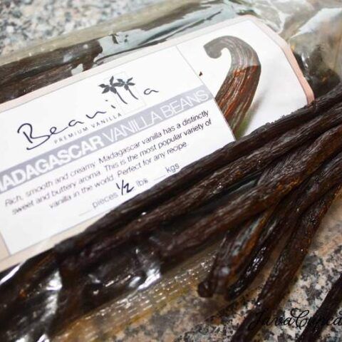 Madagascar Vanilla Bean Sugar & Cream for baking