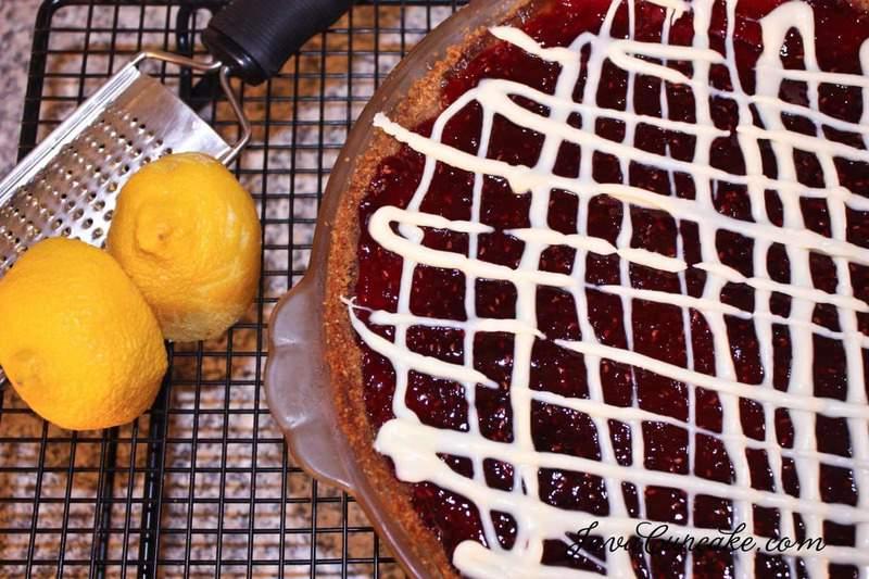 Lemon Raspberry Tart Pie