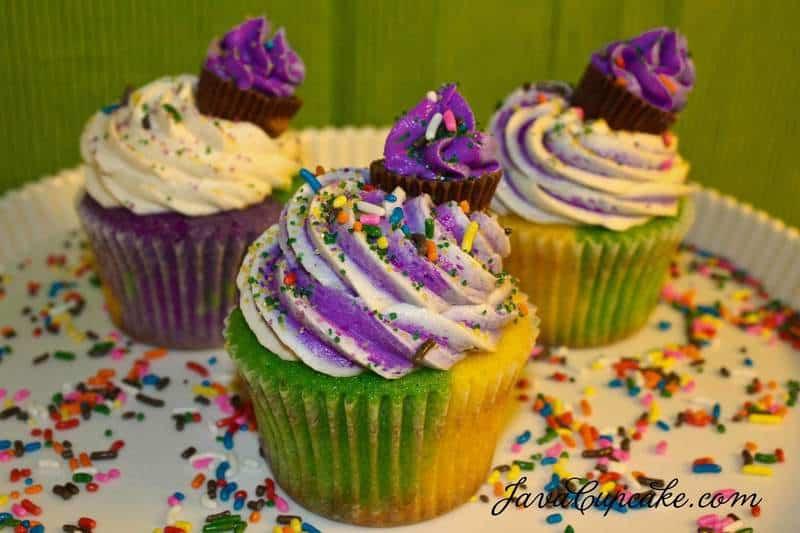 Mardi Gras Cupcakes | JavaCupcake.com