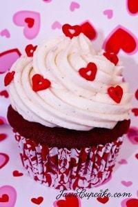 Happy Valentines Day! Red Velvet Love Cupcakes | JavaCupcake.com
