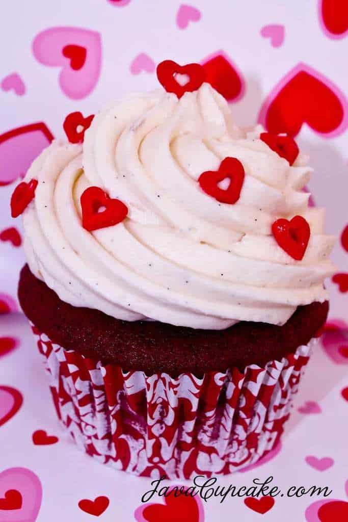 Happy Valentine's Day! Red Velvet Love Cupcakes - JavaCupcake