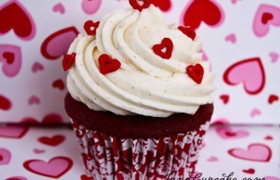 Happy Valentine's Day! Red Velvet Love Cupcakes