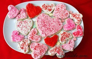 Frosted Sugar Cookies for Valentine's Day