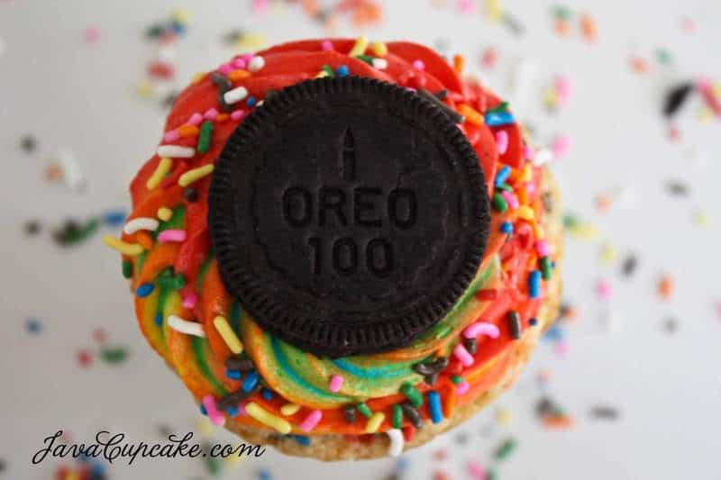 Groovy Rainbow Funfetti Birthday Cake Oreo Cupcakes Javacupcake Funny Birthday Cards Online Alyptdamsfinfo