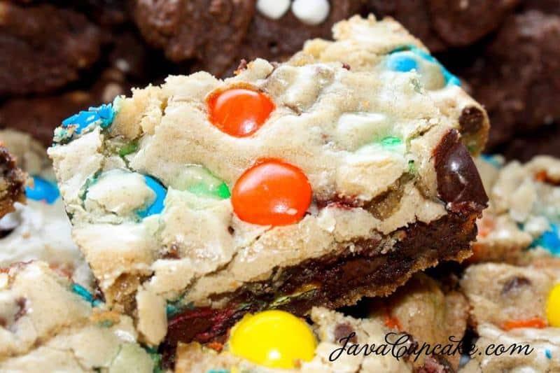M&M Cookie Bars | JavaCupcake.com