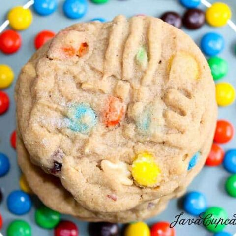 Chunky Peanut Butter M&M Cookies & Cookie Bites