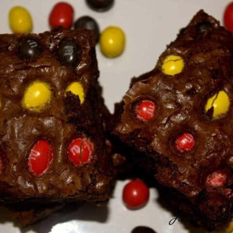 Peanut M&M Brownies
