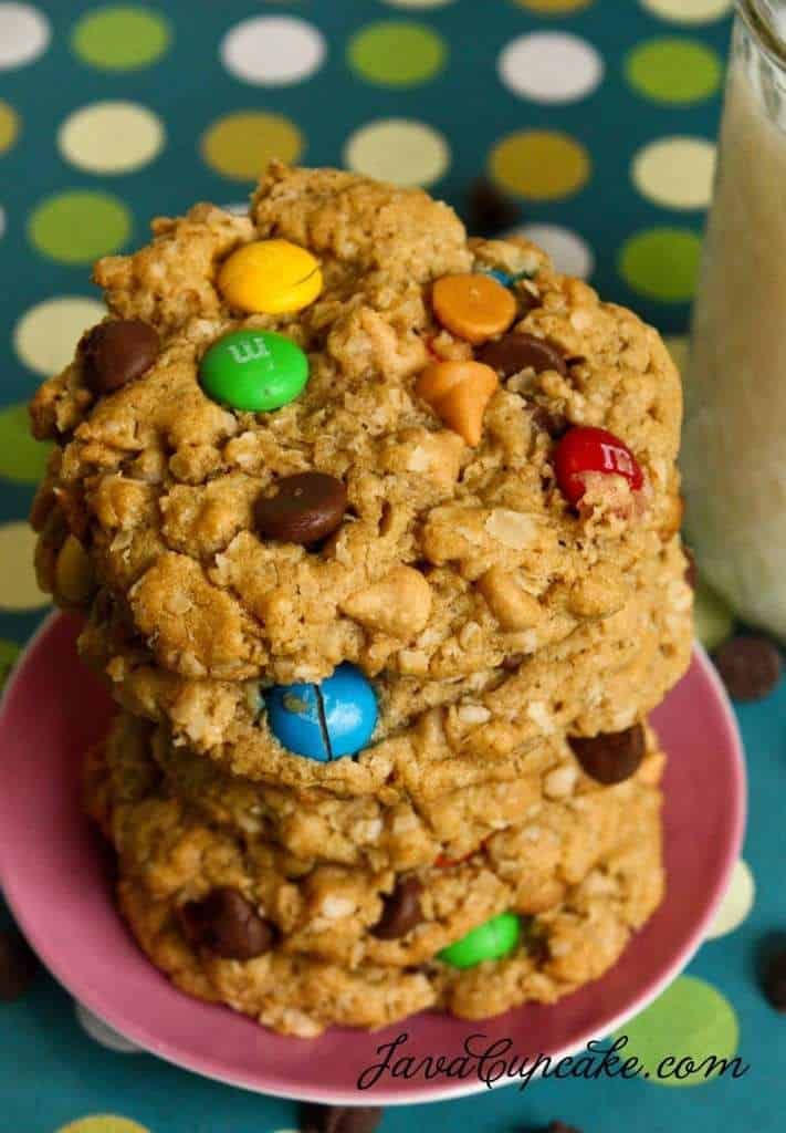 Desserts for the Deserving: Monster Cookies | JavaCupcake.com
