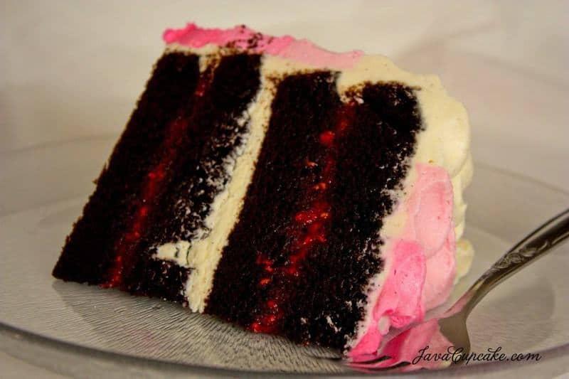 Chocolate Raspberry Ombre Petal Cake by JavaCupcake-6