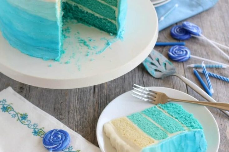 Blue Ombre Cake Tutorial