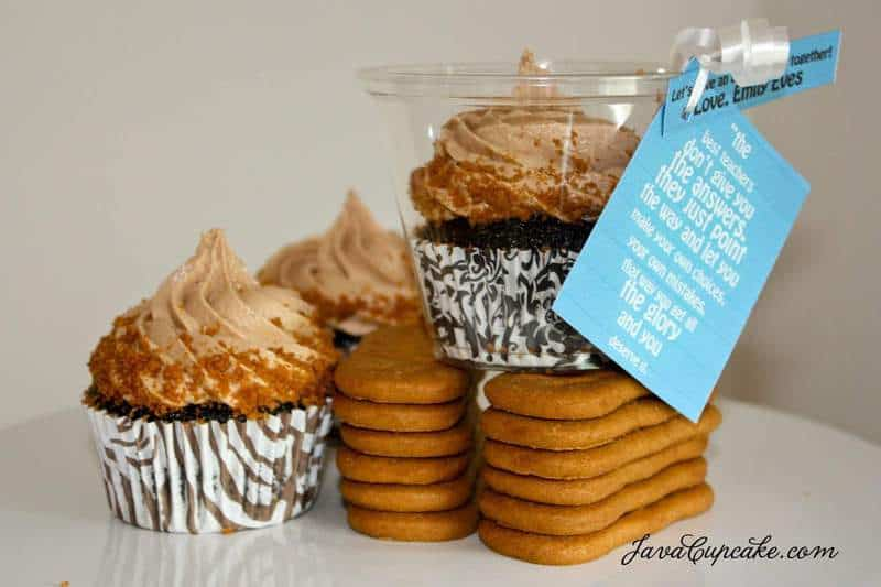 Chocolate Cupcakes with Biscoff Milka Cream Cheese Frosting - The ...