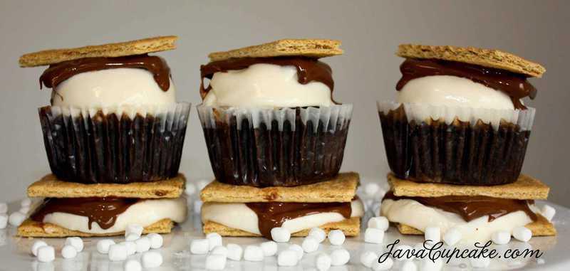 Smores Cupcakes by JavaCupcake-2