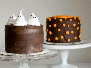Easy Tutorial: Ghost & Pumpkin Cakes for Halloween | JavaCupcake.com