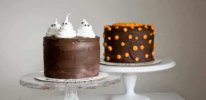 Happy Halloween! {Ghost & Pumpkin Cakes}