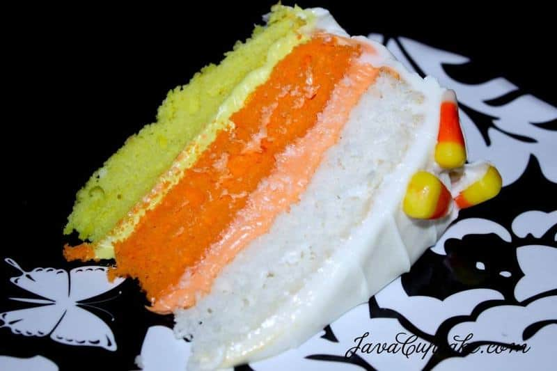 Candy Corn Cake | JavaCupcake.com