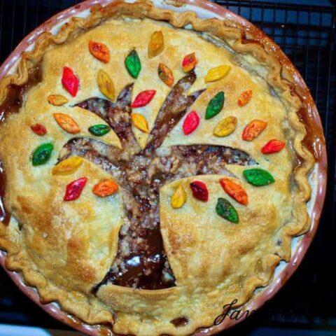Fall Leaves Toffee Apple Pie