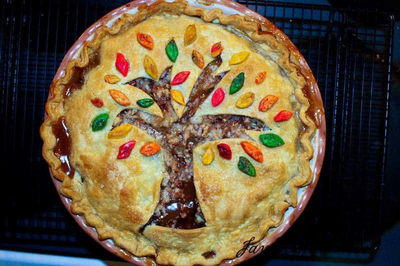 Fall Leaves Toffee Apple Pie-29