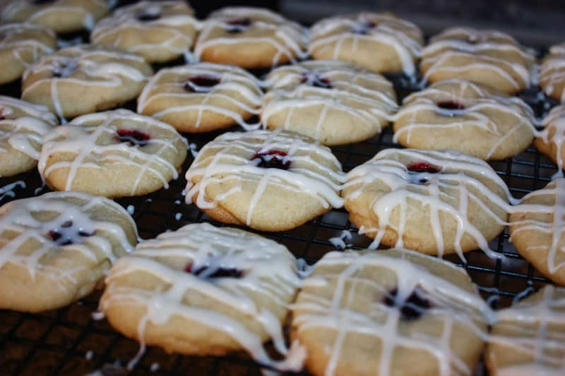Lemon Blackberry Shortbread Cookies