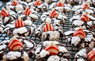 The Great Food Blogger Cookie Swap 2012: Candy Cane Crinkle Blossoms