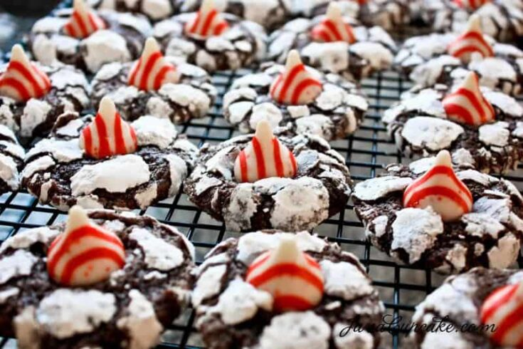 Candy Cane Crinkle Blossoms