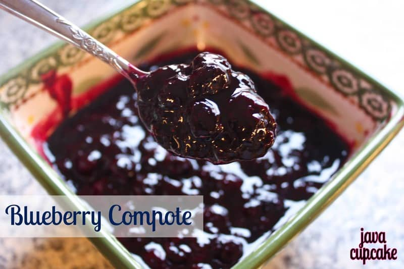 Blueberry Compote - The JavaCupcake Blog