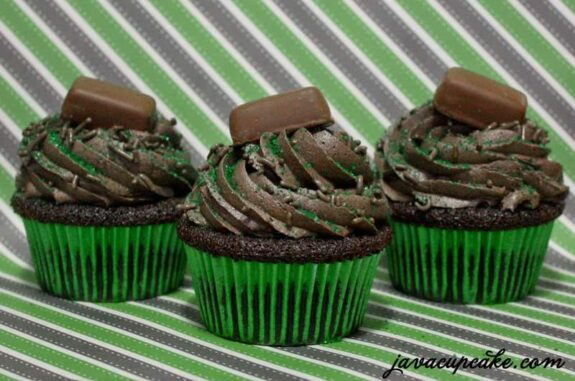 Chocolate Mint Frango Cupcakes