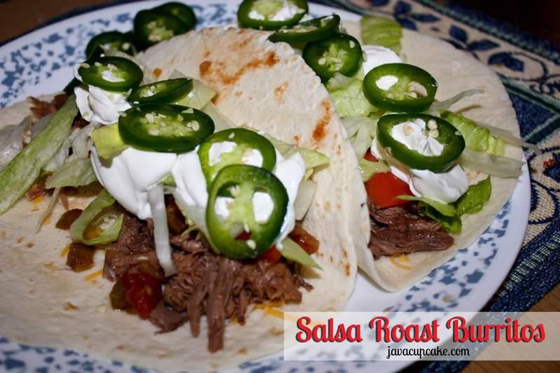 Salsa Roast Burritos by JavaCupcake.com