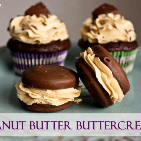 Tagalong Peanut Butter Buttercream Sandwiches