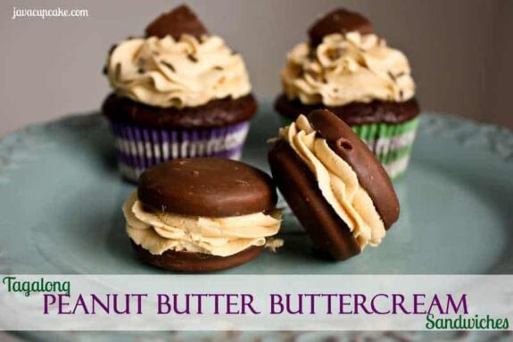 Tagalong Peanut Butter Buttercream Sandwiches