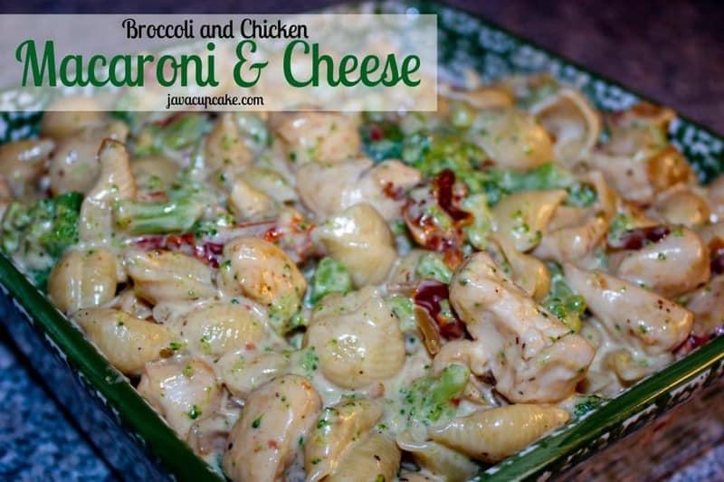 Broccoli & Chicken Mac n' Cheese by JavaCupcake.com