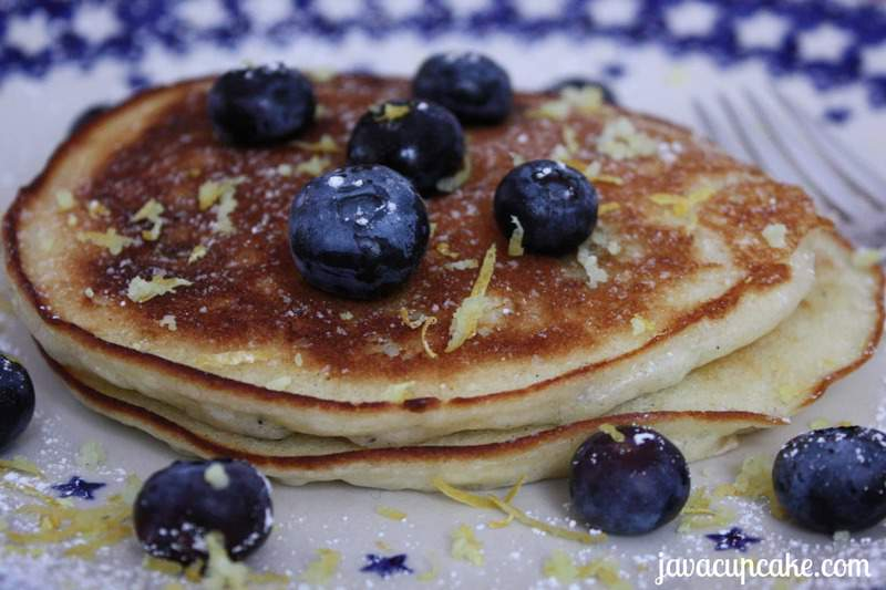 Lemon Blueberry Pancakes Recipe — Dishmaps