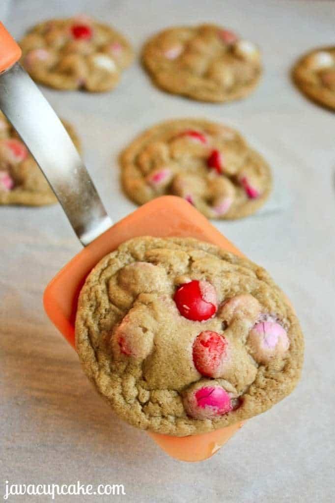 M&M Love Cookies by JavaCupcake.com