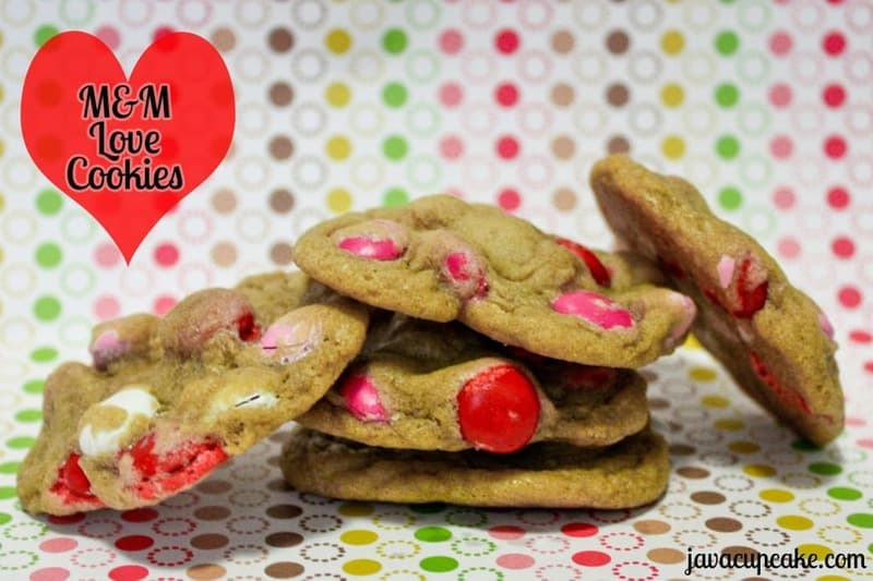 M&M Love Cookies by JavaCupcake.com